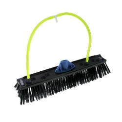 UNGER nLite® Rechteckige Bürste, Wasserführende Bürste mit Düsenanschlüssen, Breite: 40 cm, 8 Düsenanschlüsse, schwarz
