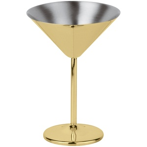 sambonet Bar Utensils Martini Cocktailglas Edelstahl/PVD gold 0,2 L