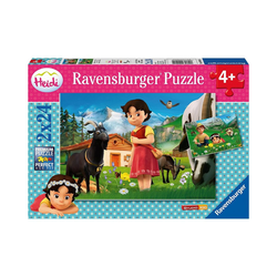 Ravensburger Puzzle 2er Set Puzzle, je 24 Teile, 26x18 cm, Heidi in, Puzzleteile