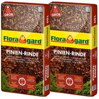 Floragard Pinienrinde Rindenmulch Pinienmulch, 2x60 l