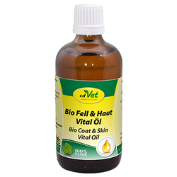 (24,19 EUR/100ml) cdVet Bio Fell & Haut Vital Öl für Hunde 100 ml
