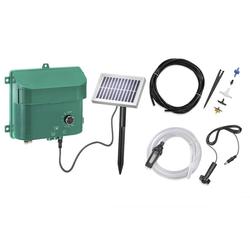 Solar Bewässerungsset mit Akku, Panel, Pumpe, Schlauch, Düsen etc.