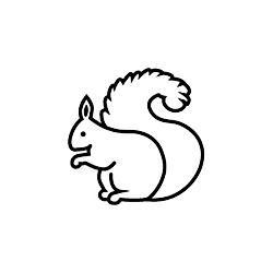 Stempel Mini Eichhörnchen
