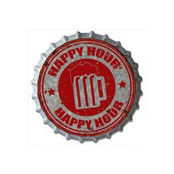HTI-Line Metallschild Blechschild Happy, Blechschild bunt