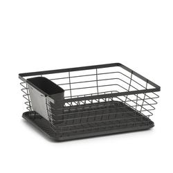 Geschirrabtropfständer, schwarz 37x30,5x14,5