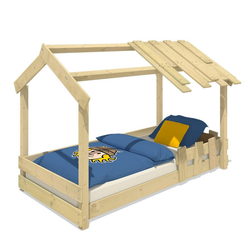 Wickey Kinderbett Hausbett CrAzY Beach - Holzbett 90 x 200 cm