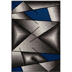 Teppich Medusa 1790, Sehrazat, rechteckig, Höhe 9 mm, Kurzflor blau 120 cm x 170 cm x 9 mm