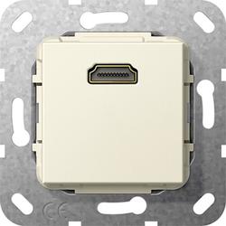 Gira 567001, HDMI™ K-Peitsche Einsatz Cremeweiß