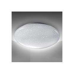 B.K.Licht LED Deckenleuchte Astro, LED Deckenlampe 12W 1200lm 4.000K Sternenlicht IP20 Ø 280mm