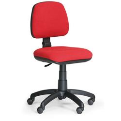 Bürostuhl milano ohne armlehnen, rot