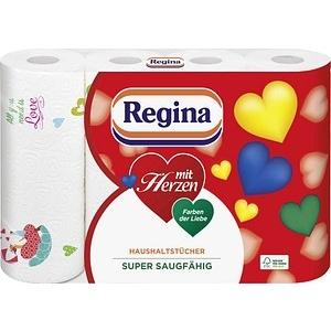 Regina Küchenrollen mit Herzen 3-lagig 4 Rollen