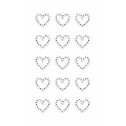 Sticker Strass Herzen Crystal