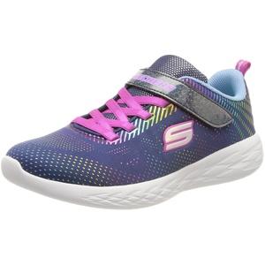 Skechers Damen GO Run 600 Shimmer Speeder Sneaker, Navy, 17.5 EU