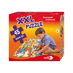 Noris Puzzle Bodenpuzzle Feuerwehr 45 Teile, Puzzleteile