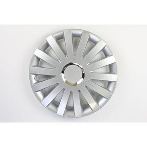 ZentimeX Z731691 Radkappen Radzierblenden universal 17 Zoll silver