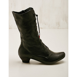 Think Damen Leder-Stiefel Delan schwarz Boots