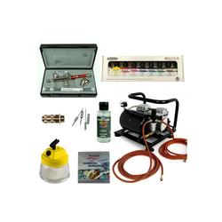 Airbrush-City Druckluftwerkzeug Custom-Painting Airbrush Set - Infinity Two in One + Sparmax AC-500 Kompressor - Kit 9310, (1-St)