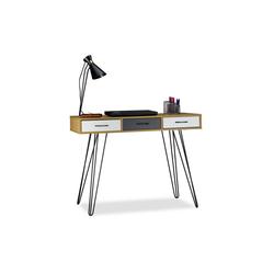 relaxdays Schreibtisch Designer Schreibtisch mit Schubladen