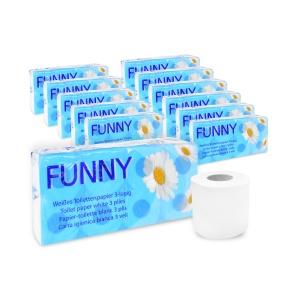 Sonderaktion Toilettenpapier, 3-lagig, hochweiß, Tissue aus 100% Zellstoff, 24 Packungen à 8 Rollen = 192 Rollen
