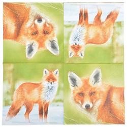 Linoows Papierserviette 20 Servietten mit Fuchs, Jagdmotiv der Rotfuchs, Motiv Der Fuchs, Jagdmotiv der Rotfuchs