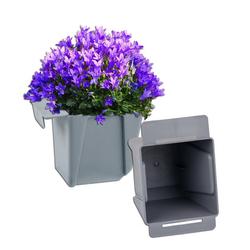 BigDean Blumenkasten Pflanzkasten Palette Mini Kunststoff Paletten Pflanzkübel Palettenkasten Palettenpflanzkasten (2 Stück)