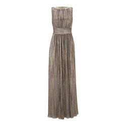 heine Damen Abendkleid dunkelblau / burgunder / altrosa, Größe 40, 5061571