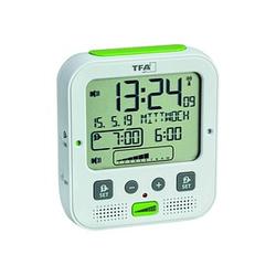 TFA® digitaler Funkwecker 60.2538.02 weiß