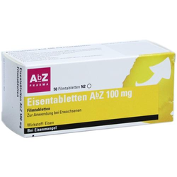 EISENTABLETTEN AbZ 100 mg Filmtabletten 50 St