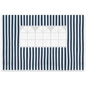 Nexos 2 Seitenteile Seitenwände Seitenplanen je 1 Fenster für PE-Pavillon Partyzelt 3 m marineblau weiß