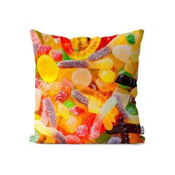 Kissenbezug, VOID (1 Stück), Süßigkeiten Gummibärchen Kissenbezug Süßigkeiten Gummibärchen Essen Kochen Kind 60 cm x 60 cm