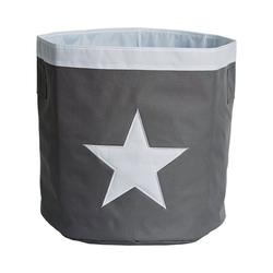 STORE IT! Aufbewahrungsbox Aufbewahrungskorb Maxi Stern grau