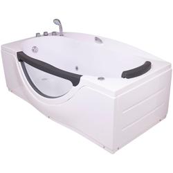 Sanotechnik Whirlpool-Badewanne NASSAU, (4-tlg), 170/90/68 cm, Whirlpool mit Fenster