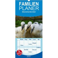 Storchenkinder - Familienplaner hoch (Wandkalender 2021  21 cm x 45 cm hoch)