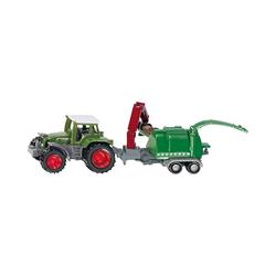 Siku Spielzeug-Auto SIKU 1675 Traktor mit Holzhäcksler