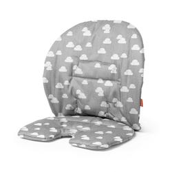 Stokke Hochstuhlauflage Steps™ Kissen, Stokke Steps Baby Set Kissen - Zubehör für Stokke Steps Stuhl - Hochstuhl-Kissen für Babysitz - Farbe: Grey Clouds grau