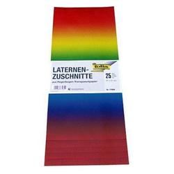 folia Transparentpapier Regenbogen 22,0 x 51,0 cm 115 g/qm