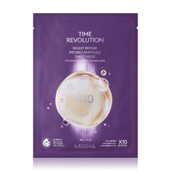 MISSHA Time Revoution Night Repair Probio Ampoule maseczka w płacie  1 Stk