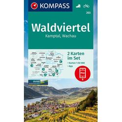 KV WK 203 Waldviertel Kamptal Wachau (2-K-Set) 1:50 000