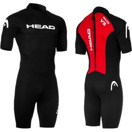 Schwarz//Rot HEAD Multisport Shorty Herren Neoprenanzug