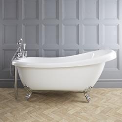 Freistehende Badewanne 171x74cm mit Füßen - Roma