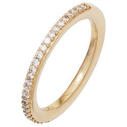 JOBO Diamantring, 585 Gold mit 26 Diamanten 56