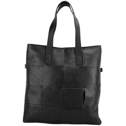 FLORENCE Umhängetasche D2OTF116S Florence Tote Bag Echtleder Damen Tasche, Damen Tasche aus Echtleder in schwarz, Made-In Italy
