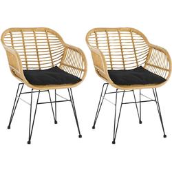 SalesFever Stuhl aus wetterfestem Kunststoffgeflecht, im 2er-Set