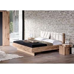Voglauer V-Pur Bett mit Polsterkopfhaupt und Querstollen