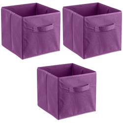 ADOB Aufbewahrungsbox Faltboxen (Set, 3 Stück) lila Bad Sanitär Aufbewahrungsboxen