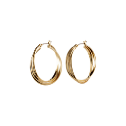Pilgrim Damen Creolen 'Jenifer' gold, Größe One Size, 4570986
