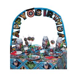 Procos Kindergeschirr-Set Partyset Marvel Avengers Mighty, 50-tlg.