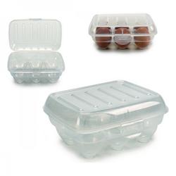 Eierbehälter Durchsichtig Kunststoff Durchsichtig (13 x 7,5 x 18 cm)