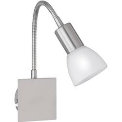 WOFI Angola 4354.01.64.0500 Nachttischlampe LED E14 40W Nickel (matt)