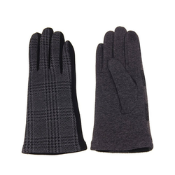 leslii Handschuhe mit elegantem Karo-Muster schwarz